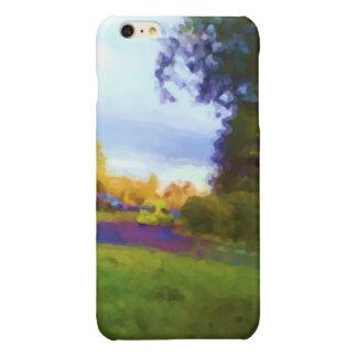 自然および車の写真 光沢iPhone 6 PLUSケース