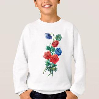 自然から描かれるケシのアネモネ スウェットシャツ