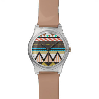 自然で夢みるようなアズテック人 腕時計