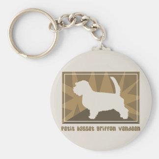 自然で小さいバセット犬Griffon Vendeen キーホルダー