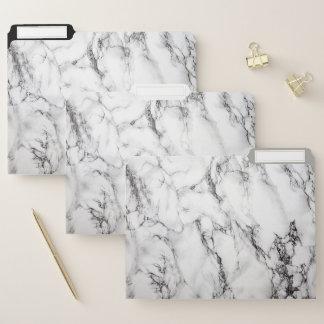 自然で白くおよび黒い大理石の質 ファイルフォルダー