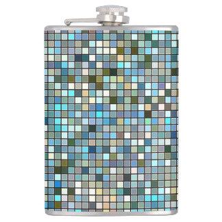 自然で青い正方形はパターンをタイルを張ります フラスク