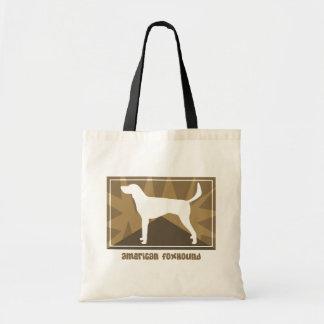 自然なアメリカFoxhoundのギフト トートバッグ