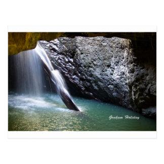 自然なアーチの滝 ポストカード