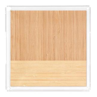 自然なタケボーダー木製の穀物の一見 アクリルトレー