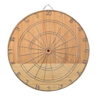 自然なタケボーダー木製の穀物の一見 ダーツボード