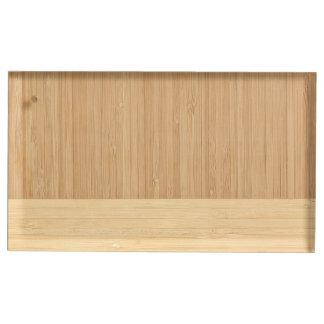 自然なタケボーダー木製の穀物の一見 テーブルカードホルダー
