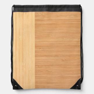 自然なタケボーダー木製の穀物の一見 ナップサック