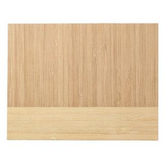 自然なタケボーダー木製の穀物の一見 ノートパッド
