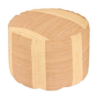 自然なタケボーダー木製の穀物の一見 プーフ
