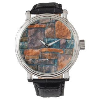 自然な壁の抽象芸術 腕時計
