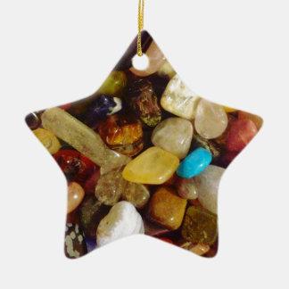 自然な宝石用原石 セラミックオーナメント