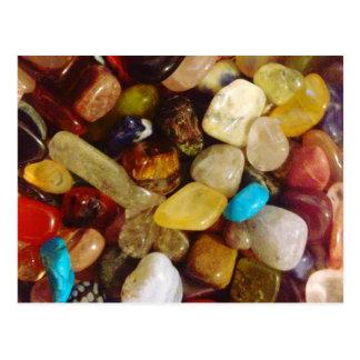 自然な宝石用原石 ポストカード