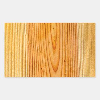 自然な木製の穀物のデザイン1 長方形シールステッカー