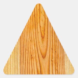 自然な木製の穀物のデザイン1 三角形シールステッカー