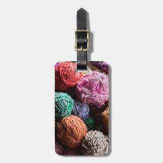 自然な染料と染まるChiloeの毛糸 ラゲッジタグ