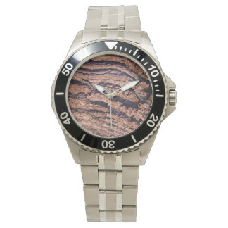 自然な樹皮の質 腕時計