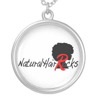 自然な毛はネックレスを揺すります シルバープレートネックレス