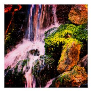 自然な滝 ポスター