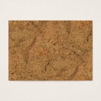自然な煙のコルクの吠え声の木製の穀物の一見 名刺