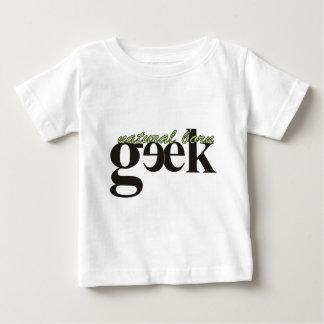 自然な生まれるギーク ベビーTシャツ