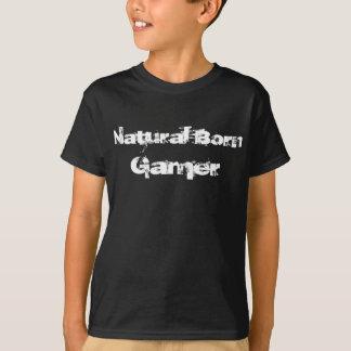 自然な生まれるゲーマー Tシャツ