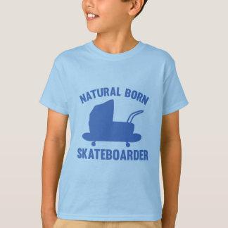 自然な生まれるスケートボーダー Tシャツ