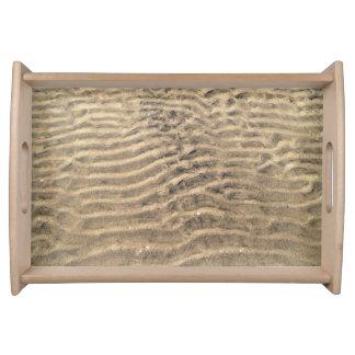 自然な砂パターントレイ トレー