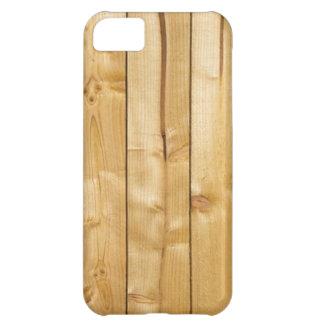 自然な結ばれた軽いブロンドの木製のパネルの写真 iPhone5Cケース