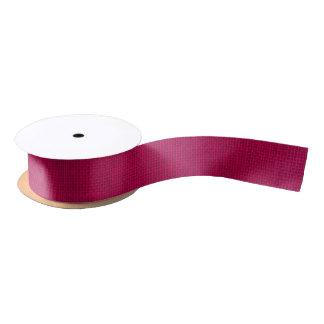 自然な編まれたショッキングピンクのバーラップのサック・クロス サテンリボン