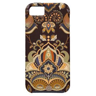 自然な色のヒンディーの曼荼羅のバリ島のethno iPhone SE/5/5s ケース