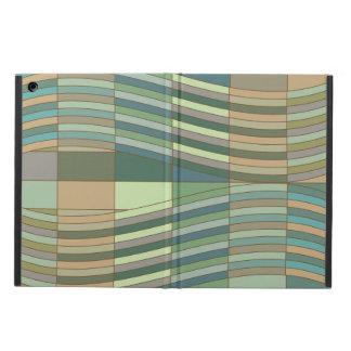 自然な色の波状の長方形 iPad AIRケース