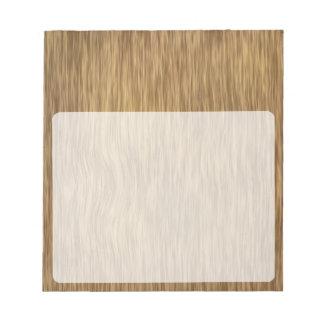自然な色の荒い木製の穀物の背景 ノートパッド