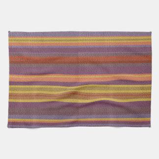 自然な色の革プリントで縞で飾りましたり及び並びます キッチンタオル