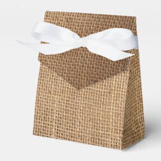 自然な茶色のキャンバスが付いている好意のギフト用の箱