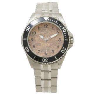 自然な金ゴールドの煉瓦 腕時計