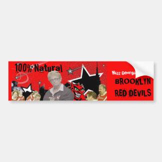 自然な100%ブルックリンの赤い悪魔のステッカー バンパーステッカー