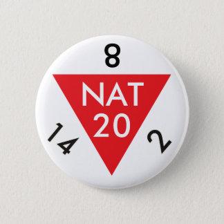 自然な20 5.7CM 丸型バッジ