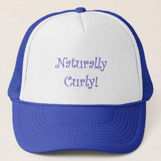 自然にカーリーヘアー キャップ