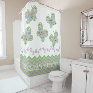 自然に新しい蝶庭の風変わりなカスタム シャワーカーテン