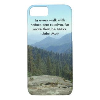 自然のあらゆる歩行… -ジョンMuir iPhone 8/7ケース