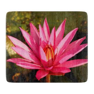 自然のはすの花 カッティングボード