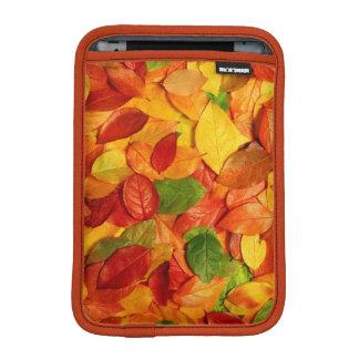 自然のカラフルの葉 iPad MINIスリーブ