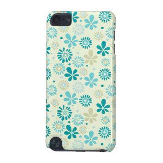 自然のターコイズの抽象芸術の日光の花柄パターン iPod TOUCH 5G ケース