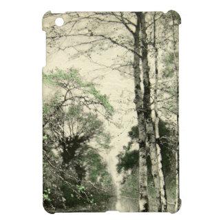 自然のツリーブランチのヴィンテージの緑のクリームの葉 iPad MINI CASE