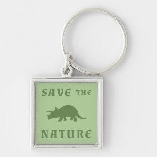 自然のトリケラトプスを救って下さい キーホルダー