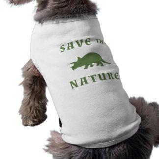 自然のトリケラトプスを救って下さい ペット服