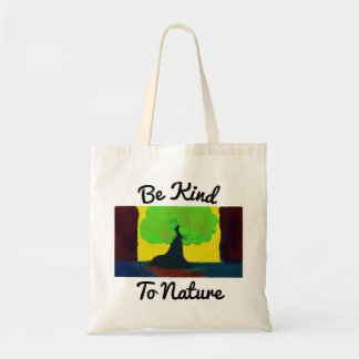 自然のトートバックに親切があって下さい トートバッグ