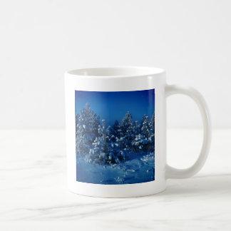 自然の冬の星の木 コーヒーマグカップ