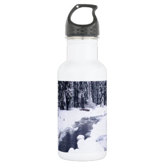自然の冬のSnowyの川 ウォーターボトル